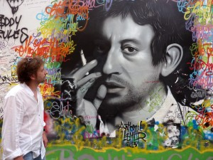 Philippe devant fresque verneuil